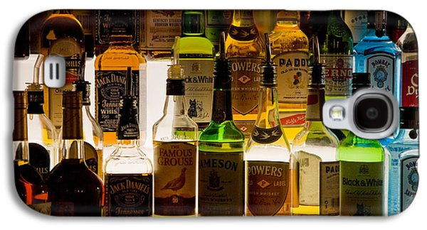 Whisky Galaxy S4 Cases - Bottles Of Liquor, De Luans Bar Galaxy S4 Case by Panoramic Images
