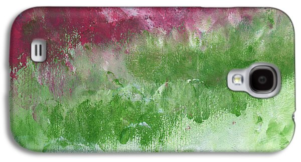 Office Art Galaxy S4 Cases - Bougainvillea- Contemporary Impressionist Painting Galaxy S4 Case by Linda Woods