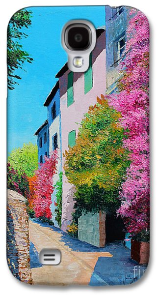 Jeans Galaxy S4 Cases - Bougainvillea in Grimaud Galaxy S4 Case by Jean-Marc Janiaczyk