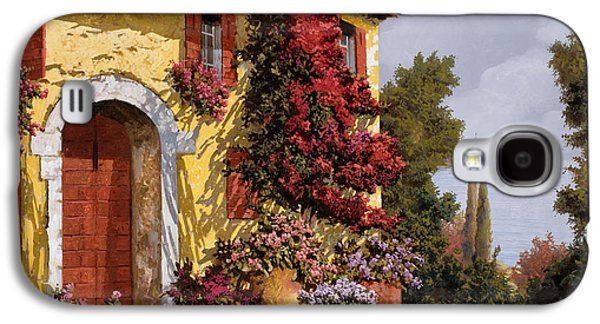 Design Paintings Galaxy S4 Cases - Bouganville Galaxy S4 Case by Guido Borelli