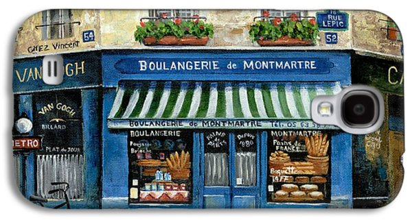 Street Paintings Galaxy S4 Cases - Boulangerie de Montmartre Galaxy S4 Case by Marilyn Dunlap