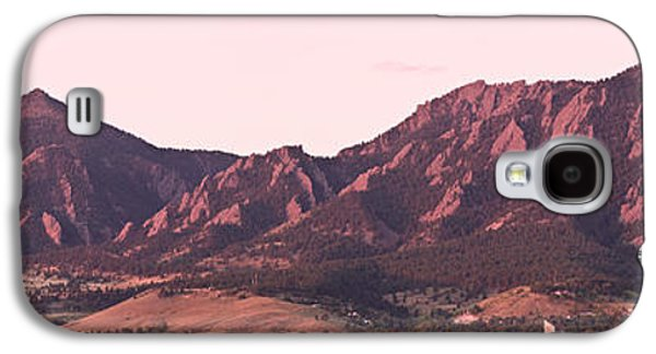 Decoration Galaxy S4 Cases - Boulder Colorado Flatirons 1st Light Panorama Galaxy S4 Case by James BO  Insogna