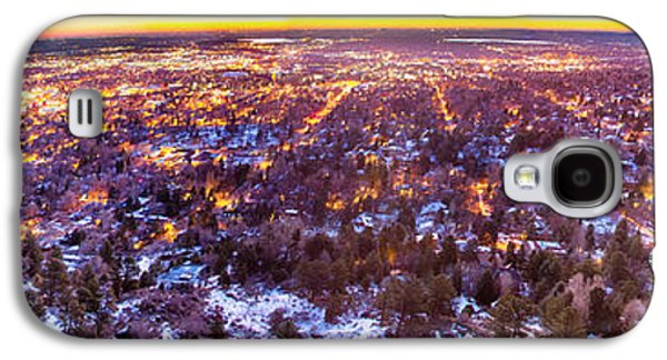 Landscapes Photographs Galaxy S4 Cases - Boulder Colorado Panorama Sunrise Glow Galaxy S4 Case by James BO  Insogna