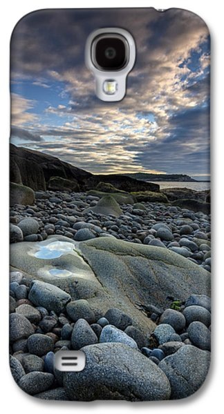 Maine Beach Galaxy S4 Cases - Boulder Reflection Galaxy S4 Case by Rick Berk