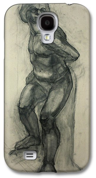 Slaves Drawings Galaxy S4 Cases - Bound Slave by Michelangelo Buonarroti Galaxy S4 Case by Olga Rogozina