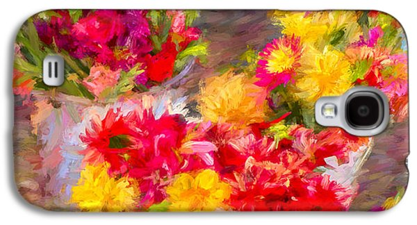 Nature Abstracts Galaxy S4 Cases - Bounty of Spring 3 - Painting Galaxy S4 Case by F Leblanc