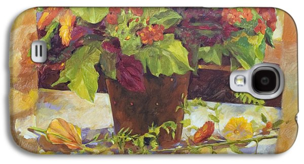 """""""indoor"""" Still Life Paintings Galaxy S4 Cases - Bouquet Galaxy S4 Case by Anke Classen"""