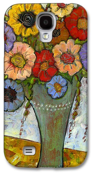 Artistic Paintings Galaxy S4 Cases - Bouquet of Flowers Galaxy S4 Case by Blenda Studio