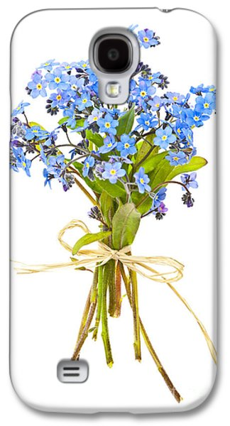 Botanical Galaxy S4 Cases - Bouquet of forget-me-nots Galaxy S4 Case by Elena Elisseeva