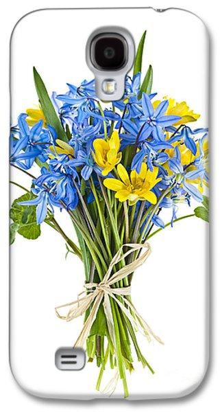 Botanical Galaxy S4 Cases - Bouquet of fresh spring flowers Galaxy S4 Case by Elena Elisseeva