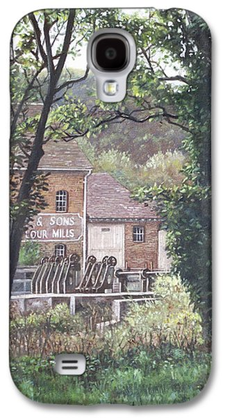 Morning Light Paintings Galaxy S4 Cases - Bournemouth Throop mill through trees Galaxy S4 Case by Martin Davey