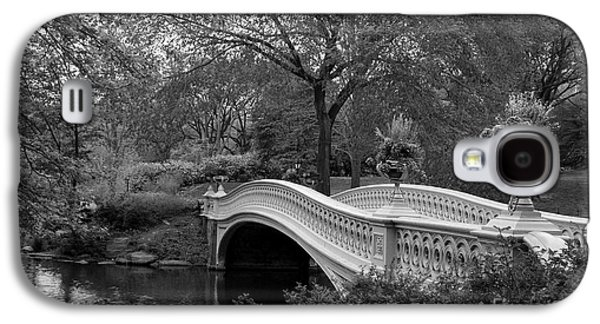 Famous Bridge Galaxy S4 Cases - Bow Bridge NYC In Black and White Galaxy S4 Case by Christiane Schulze Art And Photography