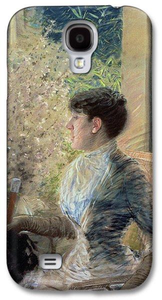 Half-length Galaxy S4 Cases - Bow Window Galaxy S4 Case by Giuseppe Nittis