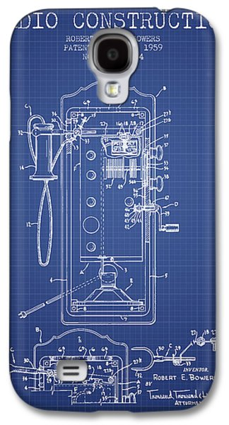 Radio Galaxy S4 Cases - Bowers Radio Construction Patent From 1959 - Blueprint Galaxy S4 Case by Aged Pixel