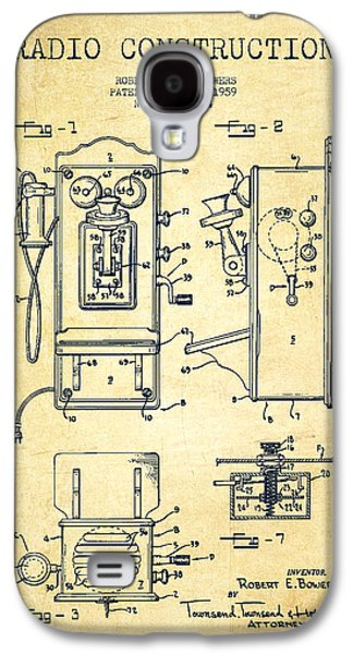 Radio Galaxy S4 Cases - Bowers Radio Patent Drawing From 1959 - Vintage Galaxy S4 Case by Aged Pixel