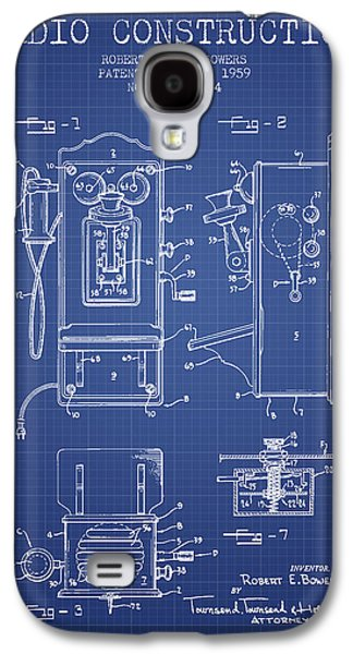 Radio Galaxy S4 Cases - Bowers Radio Patent From 1959 - Blueprint Galaxy S4 Case by Aged Pixel