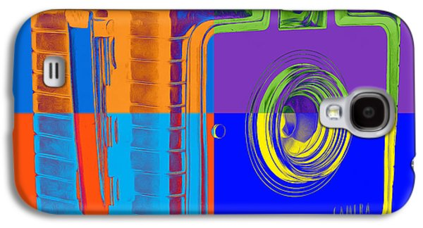 Box Galaxy S4 Cases - Box Camera Pop Art 1 Galaxy S4 Case by Edward Fielding