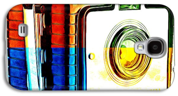 Box Galaxy S4 Cases - Box Camera Pop Art 3 Galaxy S4 Case by Edward Fielding