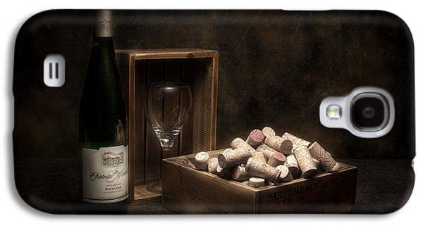 Vino Photographs Galaxy S4 Cases - Box of Wine Corks Still Life Galaxy S4 Case by Tom Mc Nemar