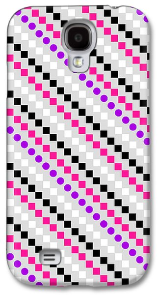 Modern Digital Art Galaxy S4 Cases - Boxed Stripe Galaxy S4 Case by Louisa Hereford