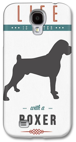 Boxer Galaxy S4 Cases - Boxer 01 Galaxy S4 Case by Aged Pixel