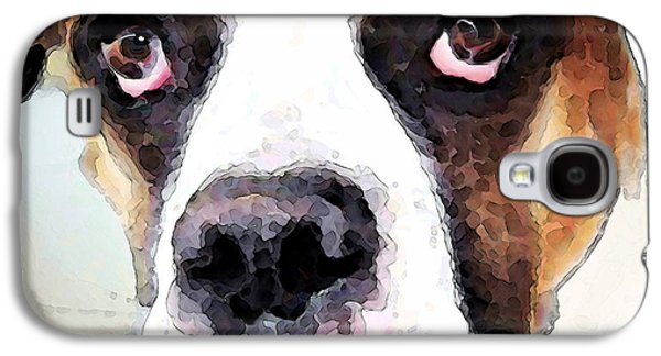 Boxer Galaxy S4 Cases - Boxer Art - Sad Eyes Galaxy S4 Case by Sharon Cummings