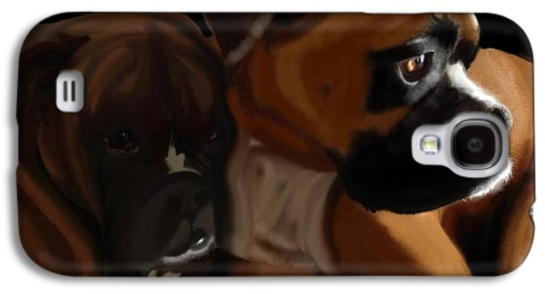 Boxer Brothers Galaxy S4 Case by Christina Kulzer
