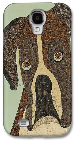 Boxer Dog Digital Galaxy S4 Cases - Boxer Days Galaxy S4 Case by Bri Buckley
