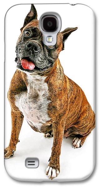 Boxer Dog Looking Forward Galaxy S4 Case by Susan  Schmitz