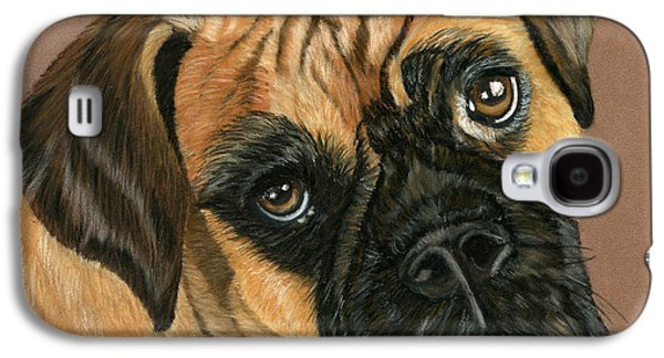 Boxer Pastels Galaxy S4 Cases - Boxer Dog Galaxy S4 Case by Sarah Dowson