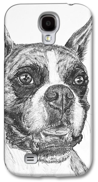 Boxer Drawings Galaxy S4 Cases - Boxer Dog Sketch Galaxy S4 Case by Kate Sumners