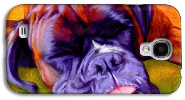 Buy Dog Digital Galaxy S4 Cases - Boxer Galaxy S4 Case by Iain McDonald