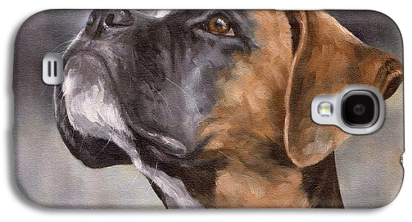 Boxer Galaxy S4 Cases - Boxer Painting Galaxy S4 Case by Rachel Stribbling