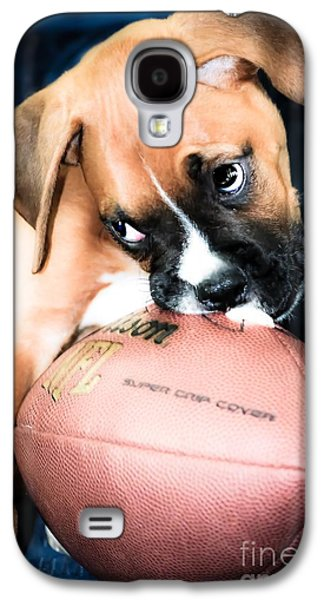 Boxer Galaxy S4 Cases - Boxer Puppy Cuteness Galaxy S4 Case by Peggy  Franz