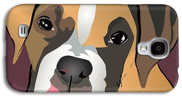 Boxer Puppy Pet Portrait  Galaxy S4 Case by Robyn Saunders