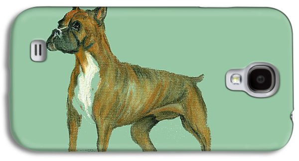 Boxer Pastels Galaxy S4 Cases - Boxer Galaxy S4 Case by Terry Frederick