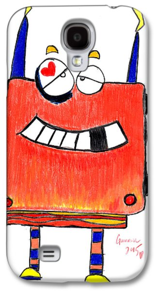 Boxer Drawings Galaxy S4 Cases - BoxerBot Galaxy S4 Case by Gannon Benton
