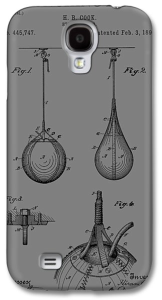 Boxer Drawings Galaxy S4 Cases - Boxing Bag Patent Galaxy S4 Case by Dan Sproul
