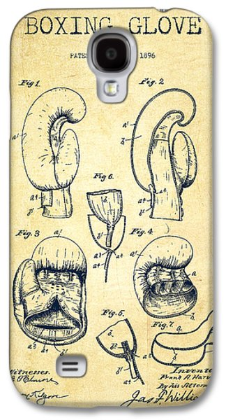 Boxing Digital Galaxy S4 Cases - Boxing Glove Patent Drawing from 1896 - Vintage Galaxy S4 Case by Aged Pixel