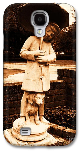 Usa Sculptures Galaxy S4 Cases - Boy and His Dog Galaxy S4 Case by Nathan Little