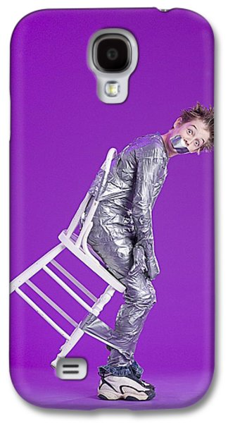 Censorship Galaxy S4 Cases - Boy Bound By Duct Tape Galaxy S4 Case by Ron Nickel