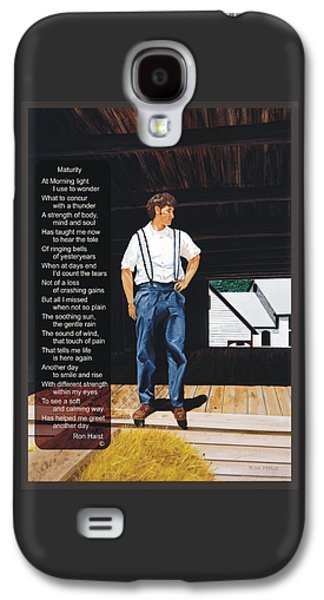Acrylic Pyrography Galaxy S4 Cases - Boy in the Barn / Maturity Galaxy S4 Case by Ron Haist