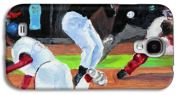 Baseball Stadiums Paintings Galaxy S4 Cases - Boys of Summer Galaxy S4 Case by Shelley Koopmann