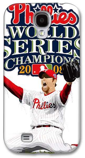 Brad Lidge Ws Champs Logo Galaxy S4 Case by Scott Weigner