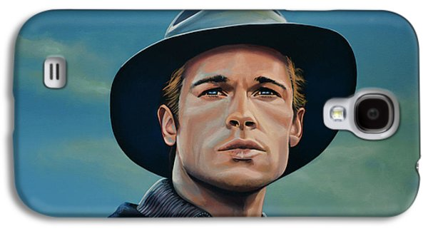 Fury Galaxy S4 Cases - Brad Pitt Galaxy S4 Case by Paul  Meijering