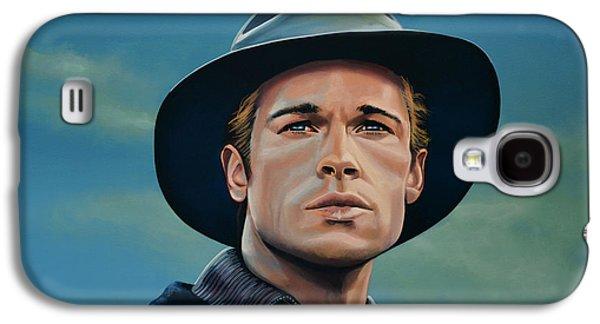 Brad Pitt Painting Galaxy S4 Case by Paul Meijering