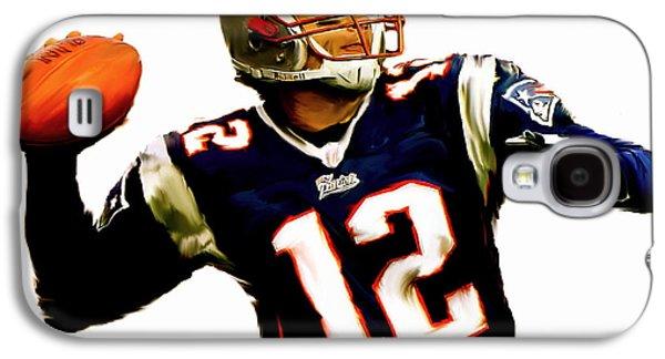 Quarterback Galaxy S4 Cases - Brady  Tom Brady  Galaxy S4 Case by Iconic Images Art Gallery David Pucciarelli