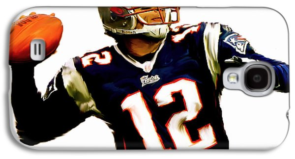 New England Galaxy S4 Cases - Brady III Tom Brady  Galaxy S4 Case by Iconic Images Art Gallery David Pucciarelli