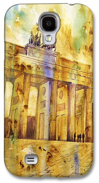 Berlin Germany Paintings Galaxy S4 Cases - Brandenburg Gate Galaxy S4 Case by Ryan Fox