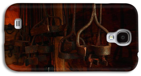 Cowboy Life Photographs Galaxy S4 Cases - Branding Irons Galaxy S4 Case by Jeff  Swan
